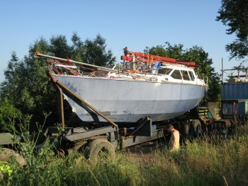 "40ft Van de Stadt ""Norman"" sloop. Completion survey 2013  at Lydney."