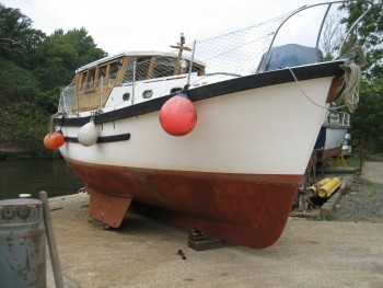 1970's Colvic-Watson Motor Sailer surveyed at Stourport on Severn 2014