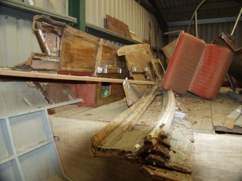 How not to store a classic Power Boat