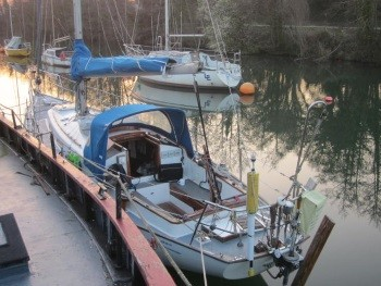 Mooring in Lydney Harbour