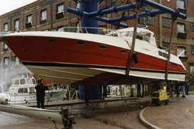 Riva 55 Powerboat - After full-speed trial on River Thames 1992