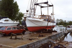 "Survey on Timber Motor Yacht ""Freiske""  1995"