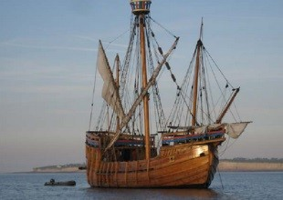 """""""The Matthew""""  at Anchor in 2008, Bristol Channel"""